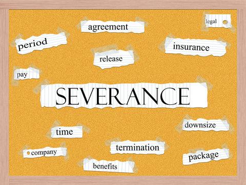 Severance Corkboard Word Concept