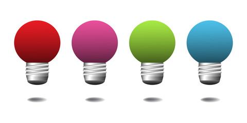 Set of four light bulbs