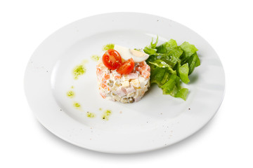 """Russian traditional salad """"Olivier"""""""