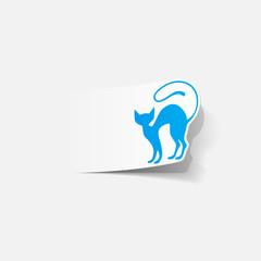 realistic design element: cat