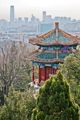 Foto op Plexiglas Beijing Guanmiao Pavilion in Jingshan Park, Beijing, China