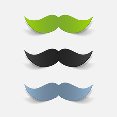 realistic design element: mustache