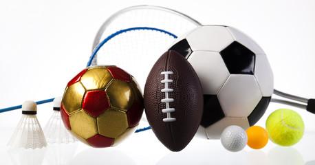 sport equipment, set of balls, aileron