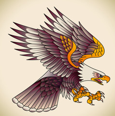 Eagle old-school tattoo