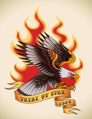 Eagle old-school tattoo