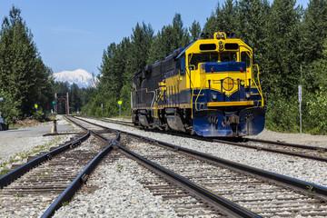 Diesel locomootive at Talkeetna in Alaska