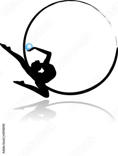 quotlogo ginnastica ritmica pallaquot immagini e vettoriali