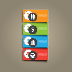 business abstract signs for infographics