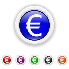 Euro icon - six colours set vector