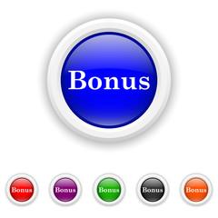 Bonus icon - six colours set vector