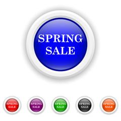 Spring sale icon - six colours set vector