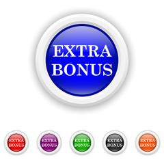 Extra bonus icon - six colours set vector