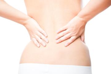 Pain in female backache