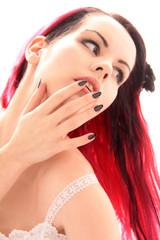 Fingernagellack in schwarz