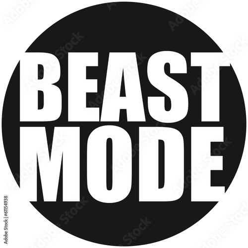 quotbeast mode logodesignquot stock photo and royaltyfree