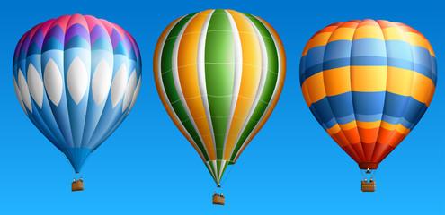 Hot air balloons set four