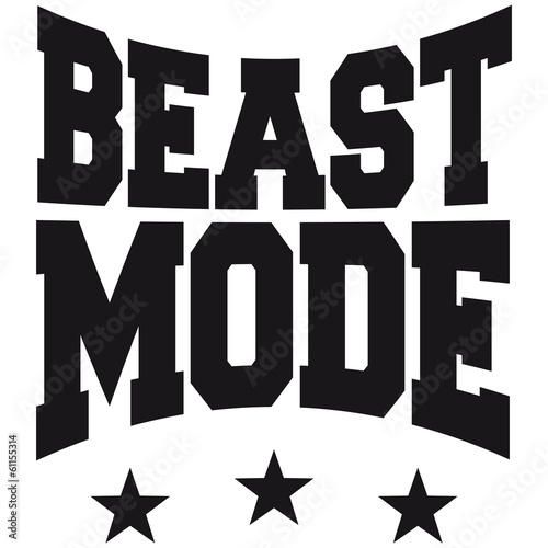 quotbeast mode logo designquot stock photo and royaltyfree