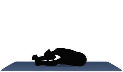 Yoga positions in Seated Forward Bend pose