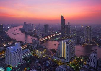 Fototapete - Bangkok, Thaïlande, fleuve Chao Phraya