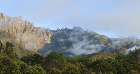 Mount Kinabalu located at Sabah, Borneo, Malaysia