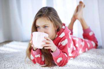 Child in pajamas