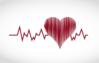 heart lifesaver illustration design
