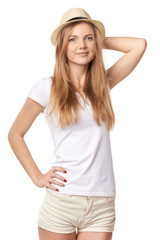 Natural smiling teen girl posing