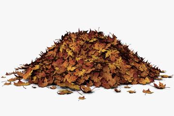3d illustration of a leaf pile Wall mural