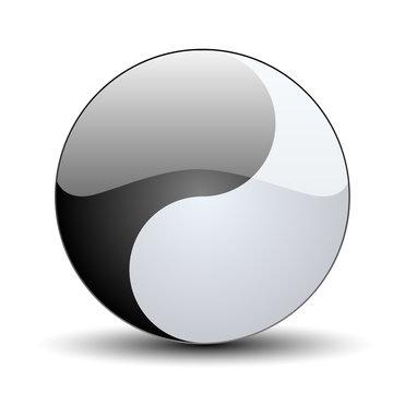 Ying Yang button