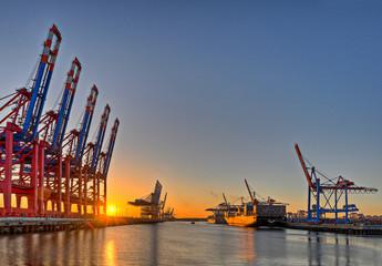 Fond de hotte en verre imprimé Port Hamburger Hafen