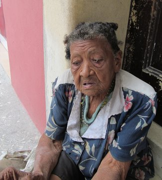 old woman homeless