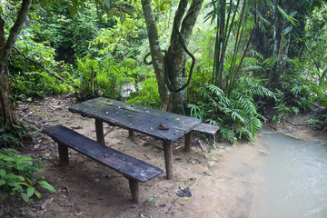 Picnic place near Tat Kuang Si waterfall in Laos