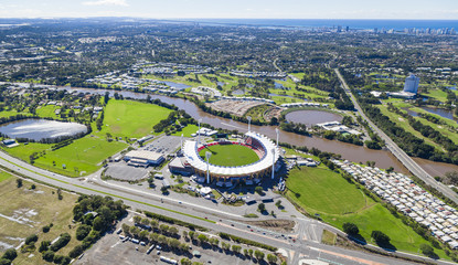 Aerial view of Australian Stadium