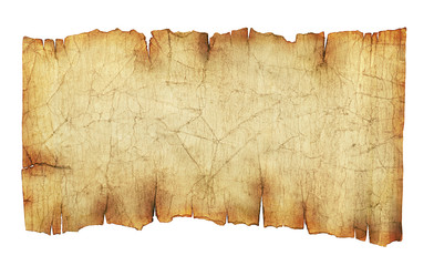 Old vintage paper scroll background isolated on white