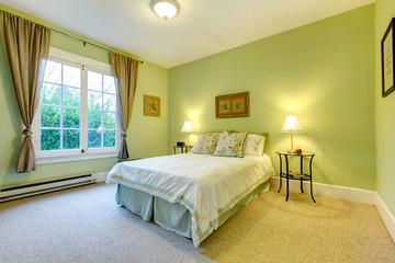 Refreshing mint bedroom