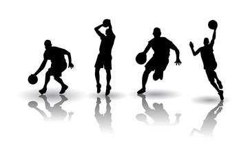 Basketball silhouette Vectors