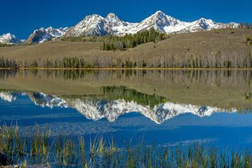 Idaho mountain lake with reflections
