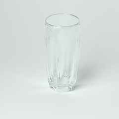 Punch Or Water Glass On White Background