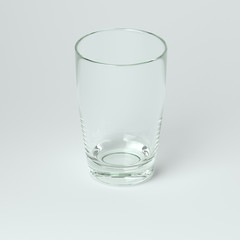 Glass Collection - Water. On White Background