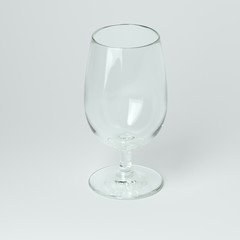 Cognac Or Wine Glass On White Background