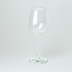 Glass Collection - Chardonnay. On White Background