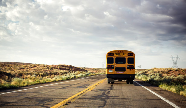 School bus on the road
