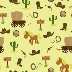 Cowboy seamless wallpaper