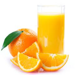 Fototapete - Fresh orange with juice
