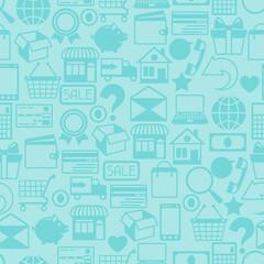 Internet shopping seamless pattern.