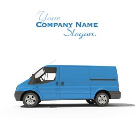 blue van ready for branding