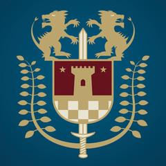 Heraldic emblem, vector illustration