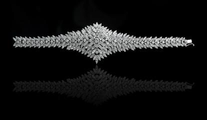 Poster - Jewelry diamond bracelet on a black background