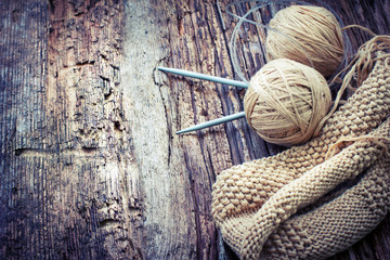 natural wool knitting background