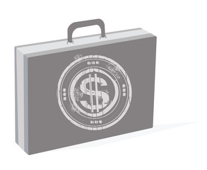 business case with a dollar sign